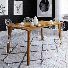 Holz Esszimmertisch aus Wildeiche Massivholz 100