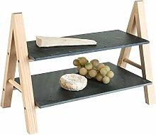 Holz-Etagere Servierplatte Servierständer | Holz