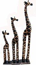 Holz Figur Dekoration Giraffe Bali Deko Garten Wohnung Statue Tier Tiermotiv - Gall&Zick (Groß)