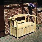 Holz Friesenbank mit Kissenbox 1Stck./SET