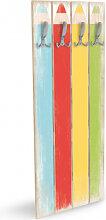Holz Garderoben - Holzgarderobe Buntstifte