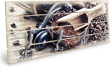 Holz Garderoben - Holzgarderobe Kaffeeduft