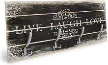 Holz Garderoben - Holzgarderobe Live Laugh Love