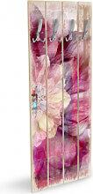 Holz Garderoben - Holzgarderobe Pink Peony