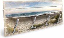 Holz Garderoben - Holzgarderobe Strandpanorama