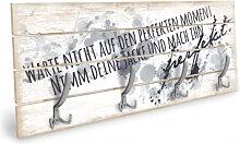 Holz Garderoben - Holzgarderobe Warte nicht auf den perfekten Moment