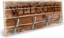 Holz Garderoben - Holzgarderobe Welcome