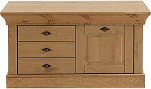 Holz Garderobenbank aus Kiefer teilmassiv Klappe