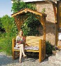 Holz Gartenlaube Starnberg 1/Stck  ,Breite:142cm ,Tiefe:80cm ,Höhe:220cm