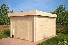 Holz-Gerätehaus mit Flachdach Jacob A 12m² /
