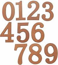 Holz Große 0-9 Hausnummer Zahlen Nummer DIY