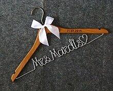 Holz Hochzeit Kleiderbügel Graviert Custom