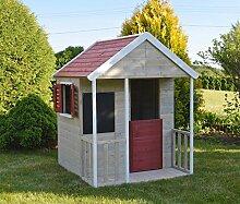 Holz Kinder Spielhaus Holzhaus Gartenhaus Haus Kinderhaus mit Kreidetafel