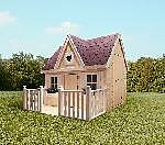 Holz Kinderhaus Schwalbennest 1/Stck  ,Länge:180cm ,Breite:231cm ,Höhe:237cm