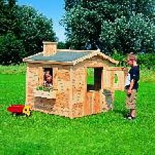 Holz Kinderhaus Villa Spatzennest, natur 1/Stck  ,Länge:136cm ,Breite:139cm ,Höhe:130cm