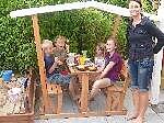 Holz Kinderpavillon Anna 1/Stck  ,Länge:208cm ,Breite:119cm ,Höhe:166cm