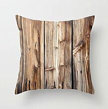 Holz Kissen 18x 18Überwurf für Deko Kissen Kissenbezüge Home Decor für Wohnzimmer Sofa