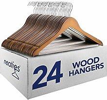 Holz-Kleiderbügel mit rutschfester Stange und