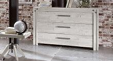 Holz-Kommode Caldera, Akazie weiß