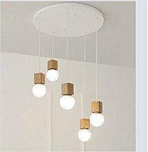 Holz-Kronleuchter, Kronleuchter, Kronleuchter, Kronleuchter im Speisesaal, eine Lampe, Cafe Lampe, Kleidung Shop Kronleuchter Holz,5