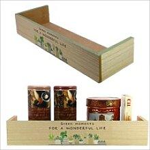 Holz-Küchenregal Format ca. 8 x 45 x 15 cm