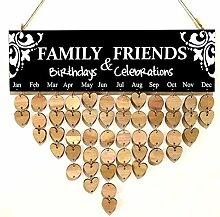 Holz Landhausstil Kalender Liste Familie Freunde