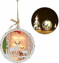 Holz leuchtende Weihnachtsbaum Lichter Ornamente