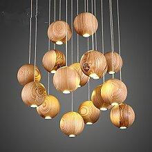 Holz Leuchter kreative Persönlichkeit Esszimmer Kronleuchter Kronleuchter Kronleuchter Schlafzimmer Wohnzimmer Kronleuchter, 16 Kopf