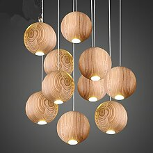 Holz Leuchter kreative Persönlichkeit Esszimmer Kronleuchter Kronleuchter Kronleuchter Schlafzimmer Wohnzimmer Kronleuchter, 10 Kopf