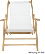 Holz-Liegestuhl Bezug Textilene