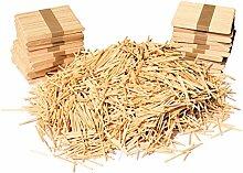 Holz-Lollipop-Sticks und Streichholzstäbchen aus