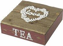 Holz Love Tee Box Hochzeit Geschenk Tisch Dekoration Erinnerungen Box