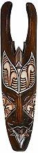Holz-Maske Nengah aus Albesia-Holz 50cm, Wandmaske