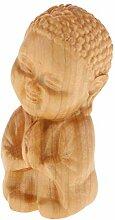 Holz Mönch Buddha Figuren Skulptur Statue,