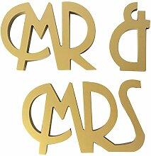Holz MR MRS Hochzeit Dekoration Requisiten