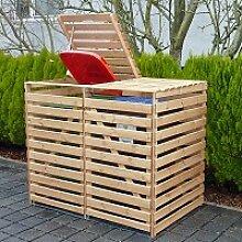 Holz Mülltonnenbox Vario V 1/Stck  ,Tiefe cm:122