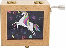 Holz-Muster-Bilderrahmen Uhrwerk Spieluhr Geschenk