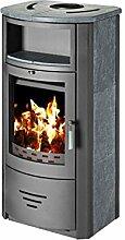 Holz-Ofen Kamin Modern hinten, Boiler Kaminofen New 8kW