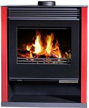 Holz-Ofen rot Farbe Kamin, log Brenner Kaminofen