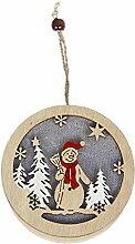 Holz Ornament LED Beleuchtung Weihnachtsbaum