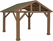 Holz Pavillon Yukon 14x12 Gartenpavillon natur