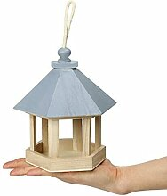 Holz-Pavillon zum Aufhängen, Vogelfutterstation,