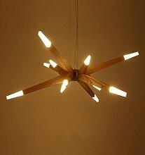 Holz Pendelleuchte LED Lampe Perlen * 12 Köpfe