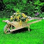 Holz Pflanzkarre Augsburg mit Aufsatz und