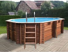 Holz-Pool, Oval, System Omega Grenade; Folie innen