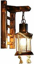 Holz Retro Lichter rustikale Wohnzimmer Wandlampe