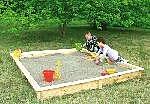 Holz Sandkasten Yanick 1/Stck  ,Länge:225cm ,Breite:225cm ,Höhe:21cm