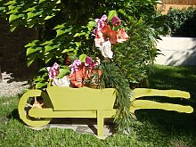 Holz-Schubkarre zum Bepflanzen, Blumentöpfe,