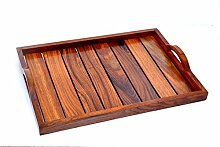 Holz-Serviertablett, Palisander Sheesham Holz
