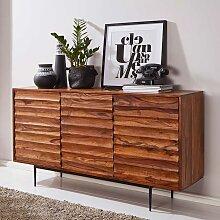 Holz Sideboard aus Sheesham Massivholz 150 cm breit